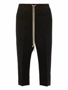 Rick Owens - Astaires Virgin Wool Blend Crepe Trousers - Mens - Black