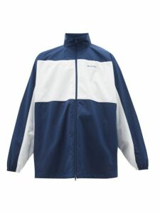 Balenciaga - Oversized Bb Logo Striped Cotton Track Jacket - Mens - Multi