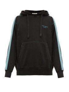 Acne Studios - Franz Striped Cotton Hooded Sweatshirt - Mens - Black