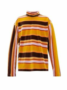 Marni - High Neck Striped Cotton Velour Top - Mens - Multi