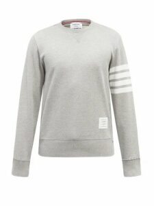 Thom Browne - 4 Bar Cotton Jersey Sweatshirt - Mens - Light Grey
