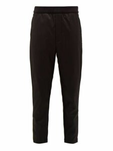 Prada - Logo Plaque Cotton And Nylon Track Pants - Mens - Black