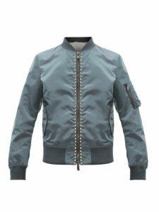 Valentino - Rockstud Bomber Jacket - Mens - Grey