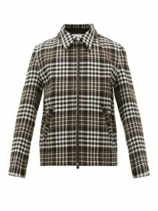 Ami - Prince Of Wales Check Wool Blend Jacket - Mens - Black Multi
