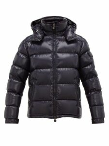 Moncler - Maya Hooded Quilted Down Jacket - Mens - Navy