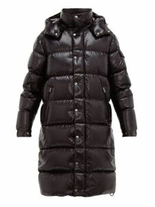 Moncler - Hanoverian Hooded Quilted Down Coat - Mens - Black