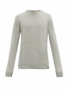 Belstaff - Crew Neck Wool And Cashmere Blend Sweater - Mens - Grey