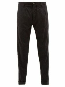 J.w. Brine - Marshall Pleated Flecked Wool Blend Trousers - Mens - Black