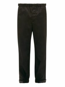Prada - Adjustable Cuff Nylon Gabardine Trousers - Mens - Black
