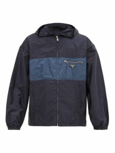 Prada - Logo Plaque Technical Jacket - Mens - Navy
