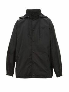 Balenciaga - Hooded Technical Windbreaker Jacket - Mens - Black