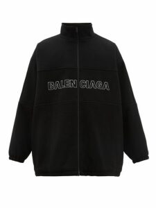 Balenciaga - Logo Embroidered Wool Jacket - Mens - Black