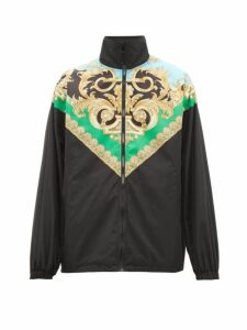Versace - Baroque-print Lightweight Jacket - Mens - Black Green