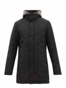 Herno - Gilet Insert Quilted Hooded Parka - Mens - Navy