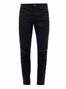 Saint Laurent - Distressed Slim Leg Jeans - Mens - Black