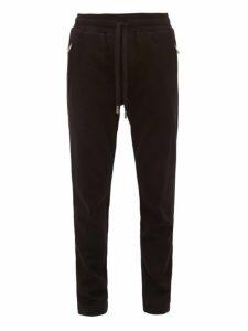 Dolce & Gabbana - Dg Logo Patch Cotton Track Pants - Mens - Black