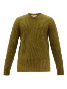 Séfr - Leth Crew Neck Ribbed Knit Sweater - Mens - Green