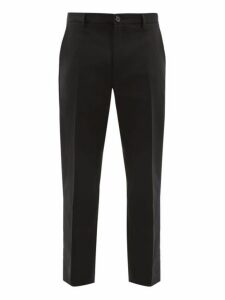 Séfr - Harvey Cotton Blend Slim Leg Trousers - Mens - Black