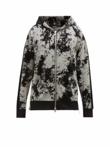 Balmain - Devoré Splatter Zip Through Hooded Sweatshirt - Mens - Black