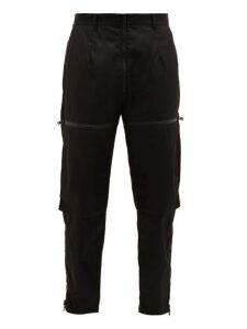 Prada - Zip Cuff Straight Leg Trousers - Mens - Black