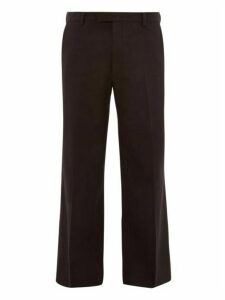 Prada - Straight Leg Wool Trousers - Mens - Black
