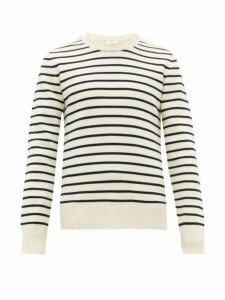 Ami - Striped Wool Sweater - Mens - Blue White
