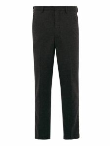 Ami - Dropped Seat Wool Twill Trousers - Mens - Grey