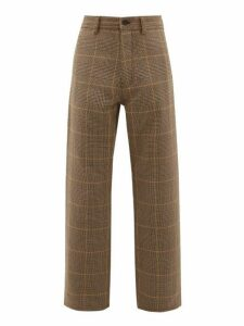 Marni - Houndstooth Check Wool Trousers - Mens - Beige