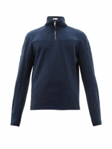 Gmbh - Moses Half Zip Cotton Track Top - Mens - Navy