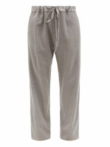 Hecho - Worsted Linen Trousers - Mens - Grey