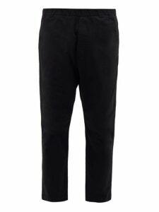 Barena Venezia - Arenga Dropped Seat Cotton Blend Twill Trousers - Mens - Black
