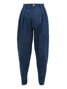 E. Tautz - Pleated Relaxed Carrot Leg Jeans - Mens - Denim