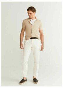 Regular fit pleated premium trousers