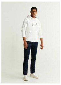 Textured cotton-blend sweatshirt