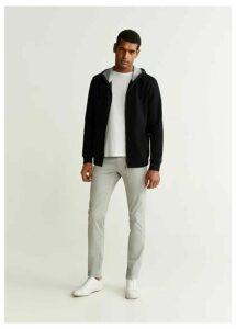 Zipper cotton sweater