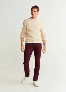 Slim fit denim-effect serge trousers