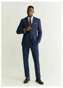 Slim fit wool suit pants