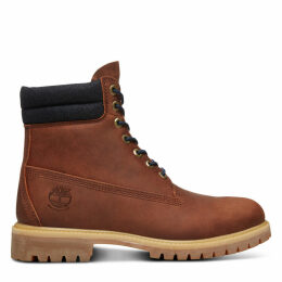 Timberland 6 Inch Double Collar Boot For Men In Brown Brown, Size 12.5