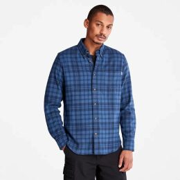 Timberland Plaid Scarf In Orange Orange Men, Size ONE