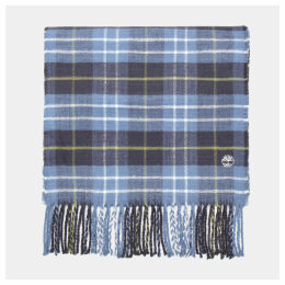 Timberland Plaid Scarf In Navy Navy Men, Size ONE