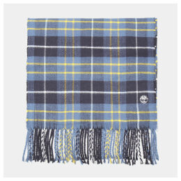 Timberland Plaid Scarf In Blue Blue Men, Size ONE