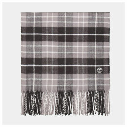 Timberland Plaid Scarf In Grey Grey Men, Size ONE
