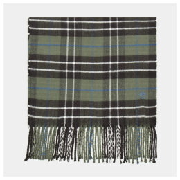 Timberland Plaid Scarf In Dark Green Dark Green Men, Size ONE