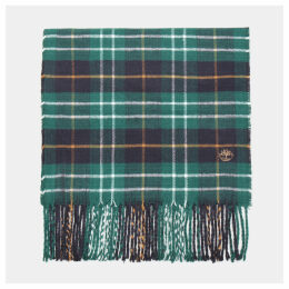 Timberland Plaid Scarf In Green Green Men, Size ONE