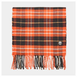 Timberland Plaid Scarf In Red Red Men, Size ONE
