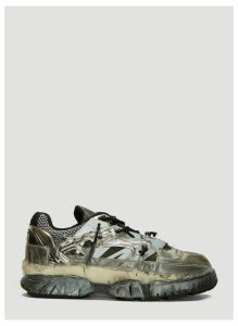 Maison Margiela Fusion Sneakers in Black and Silver size EU - 45