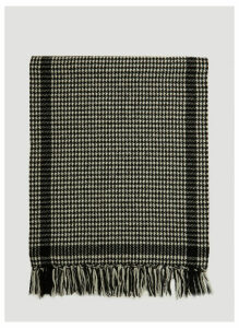 Saint Laurent Étole Pied de Poule Knit Scarf in Black size One Size