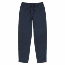 A.P.C. Kaplan Navy Cotton-blend Trousers