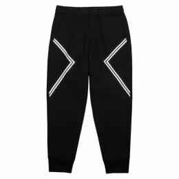 Neil Barrett Modernist Black Neoprene Sweatpants