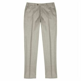 Corneliani Stone Wool-flannel Trousers
